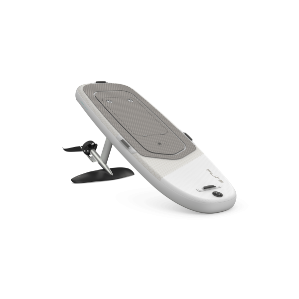 Fliteboard air with silver foil finish and cruiser wing.